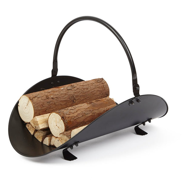 Indoor Black Fireplace Log Holder by Amagabeli-Fireplace log holder-Amagabeli
