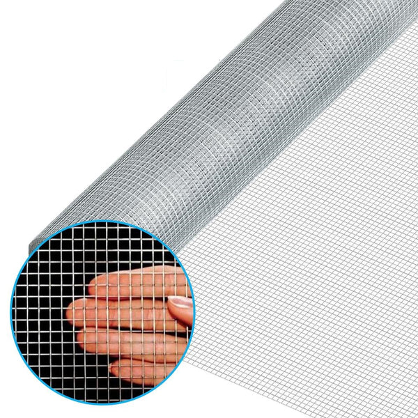 Amagabeli 48inx100ft 1/4inch 23 Gauge Square Galvanized Hardware Cloth Chicken Wire Mesh Fence Rabbit Wire Fence Poultry Netting Cage-Hardware Cloth-Amagabeli