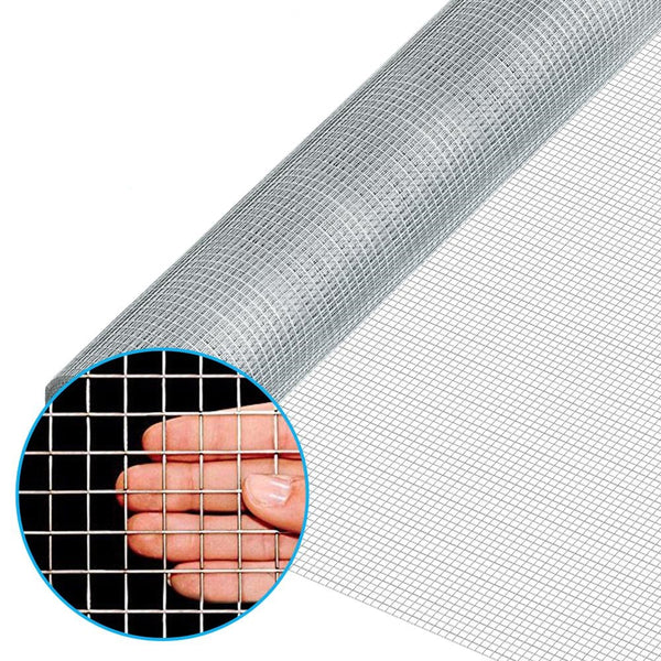 Amagabeli 48x50 Hardware Cloth 1/2 Inch 19 Gauge Square Galvanized Chicken Wire Fence Mesh Rabit Wire Fence Poultry Netting Cage Snake Fence-Hardware Cloth-Amagabeli