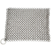 "Stainless Steel Cast Iron Cleaner 8""x6"" 316L Chainmail Scrubber by Amagabeli-Cast Iron Cleaner-Amagabeli"
