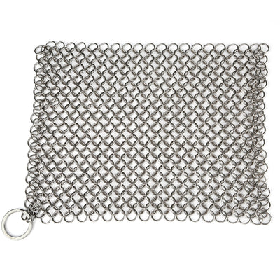 "Stainless Steel Cast Iron Cleaner 8""x6"" 316L Chainmail Scrubber by Amagabeli-Cleaning Tools-Amagabeli"