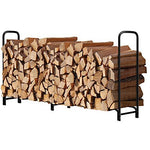 8ft Fireplace Logs Rack Fireplace by Amagabeli-Firewood Rack and Cover-Amagabeli