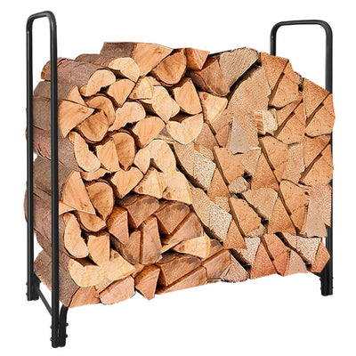 4ft Outdoor Firewood Log Rack for Fireplace Accessories Heavy Duty Wood Stacker Holder by Amagabeli-Firewood Rack and Cover-Amagabeli