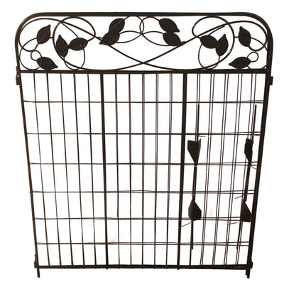Garden Fence Gate 44in x 6ft Outdoor Coated Metal Fence Rustproof by Amagabeli-Decorative Fences-Amagabeli