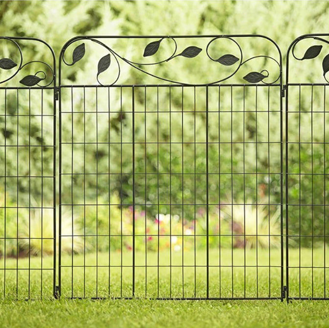 Amagabeli Fence Gate 44in X 6ft Outdoor Coated Metal Fence Rustproof