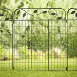 Wrought Iron Folding Garden Fence Panels
