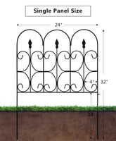 Decorative Fence for Garden 32in x 10ft Outdoor Coated Metal Fence by Amagabeli
