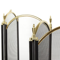 Large Gold Fireplace Screens 4 Panel