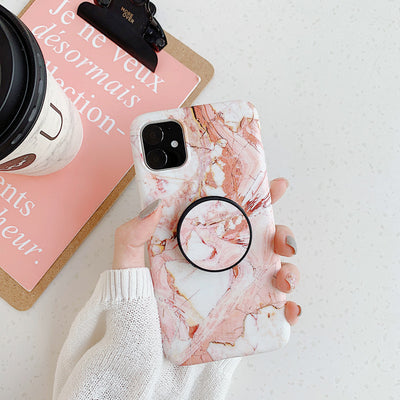 INSNIC With PopSockets Marble iPhone  Case