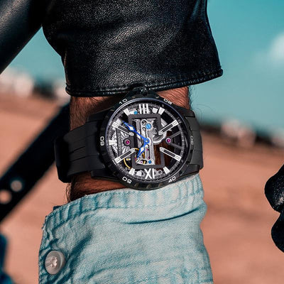 Fairwhale Waterproof Leather Mechanical Men's Watches