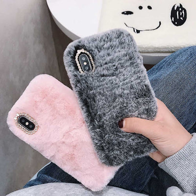 INSNIC Fashion Furry Fluffy Warm Cover for iPhone