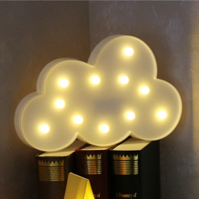 INSNIC Lovely Cloud Star Moon LED 3D Light