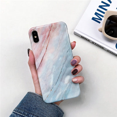 INSNIC TPU Back Marble case For  iPhone