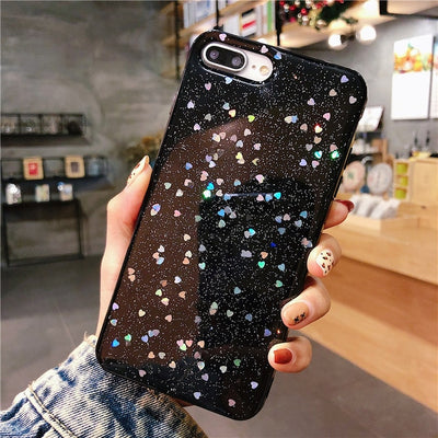 INSNIC Bling Glitter Star Moon TPU iPhone Case