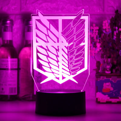 Anime Attack on Titan Acrylic Table Lamp