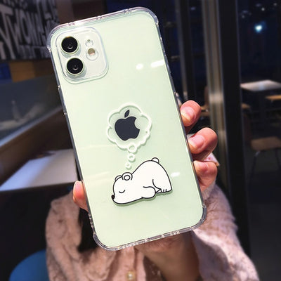 INSNIC Cute Animal Panda Bear Transparent iPhone Cases