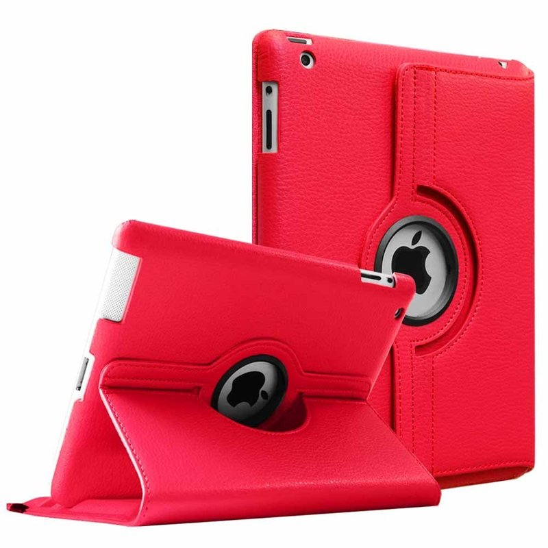 INSNIC 360 Degrees Rotating PU Leather iPad Case
