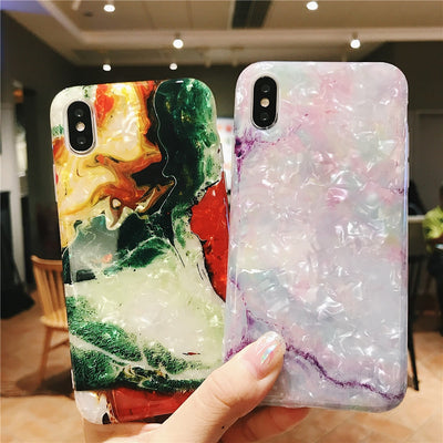 INSNIC Glossy Marble Case For iPhone