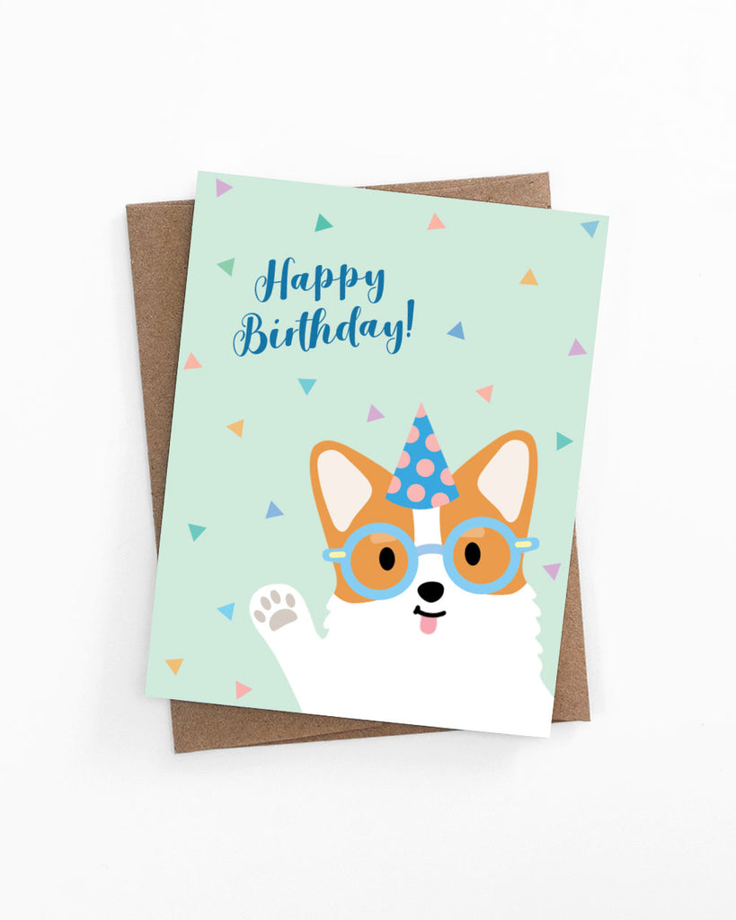 Happy Birthday Corgi Card