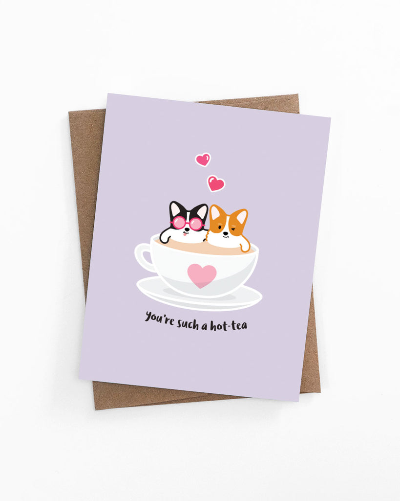 Hot-Tea Time Corgis Card