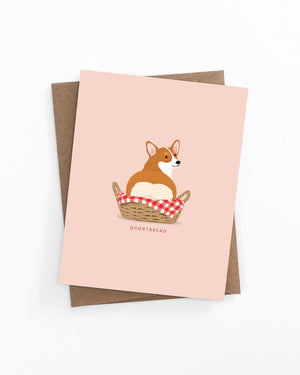 Corgi butt bread loaf greeting card by LaCorgi