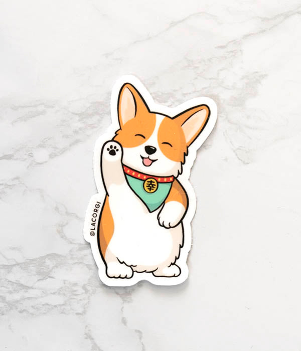 lucky corgi sticker by lacorgi