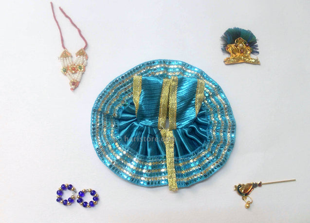 Laddu Gopal Dress - Handmade Handicraft (Blue)