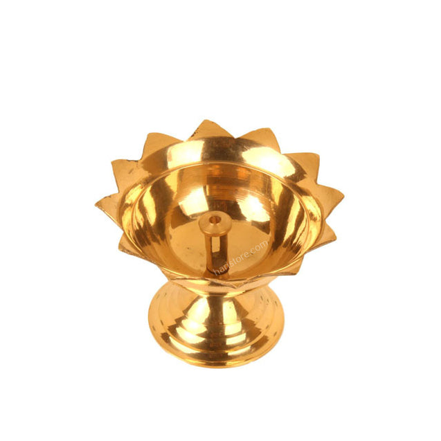 Flower Shaped Brass Lamp (Small)