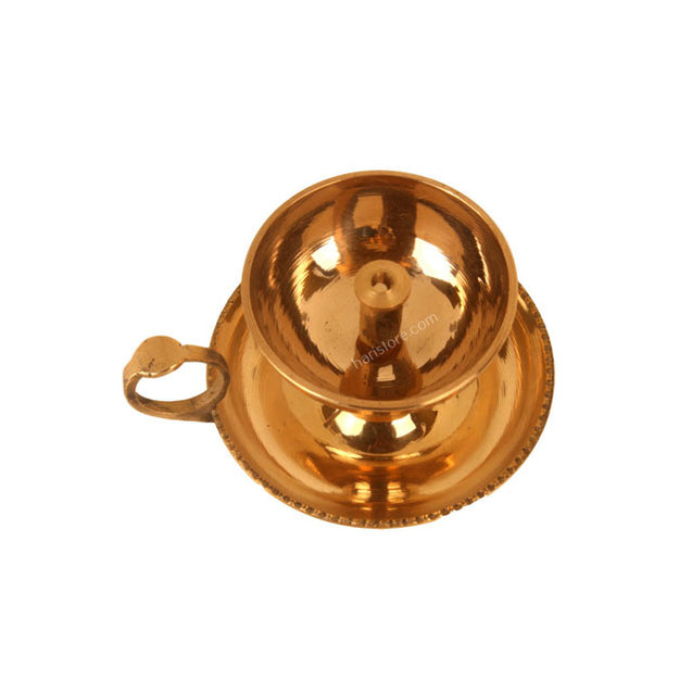 Small Brass Lamp (holder and plate atttached model)