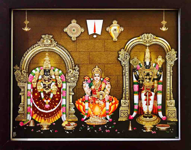 Lord Balaji with Padmavathi thayar and Mahalakashmi- Frame