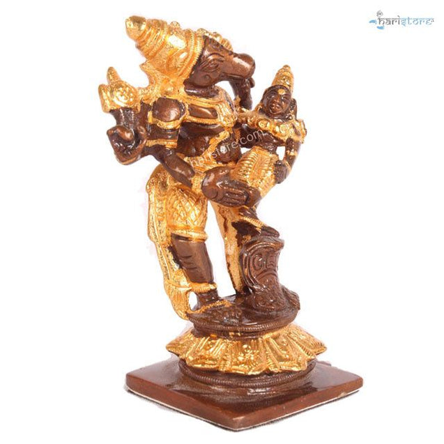 Bhu Varaha Perumal In Brass - 24K Gold Coated