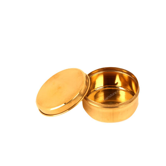 Small Brass Round Box With Lid