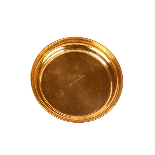Small Brass Pooja Plate - Pack of 4