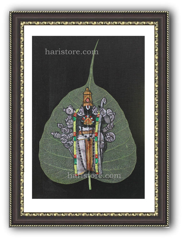 Kanchipuram Sri Adhikesava Perumal  Temple - Leaf Painting