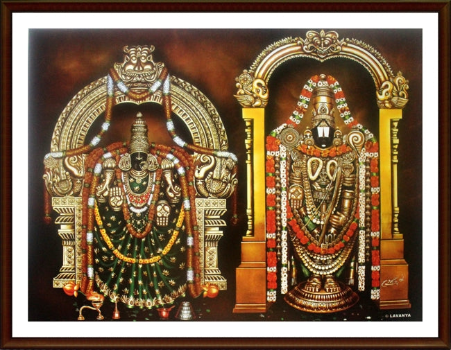 Lord Venkateswara with Thayar - Frame