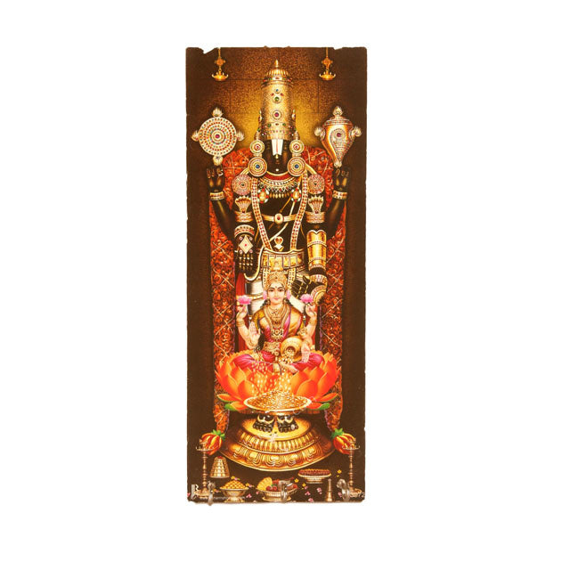 Lord Perumal with Lakshmi in key hanger