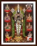 Lord Perumal with Ashtalakshmi - Frame