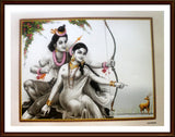 Sri Krishna and Radha with Deer - Frame