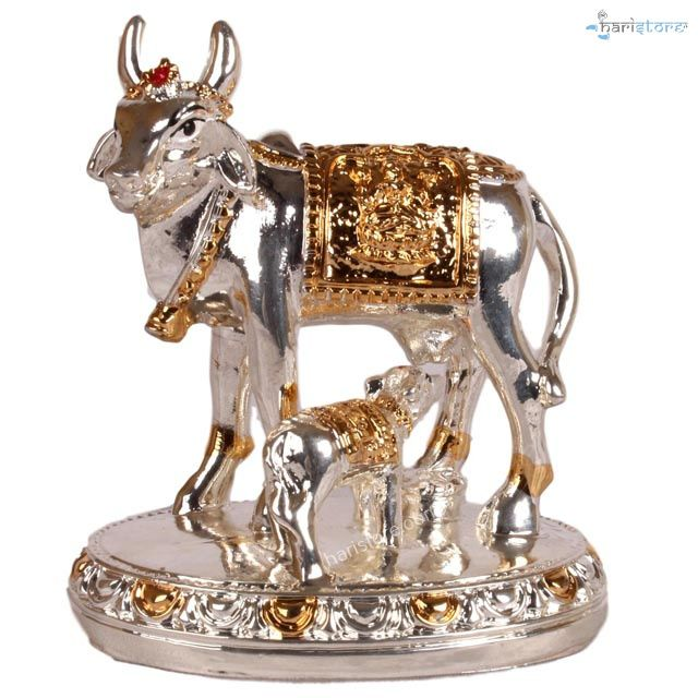 Cow and Calf- 999 Silver plated and 24K Gold Plated