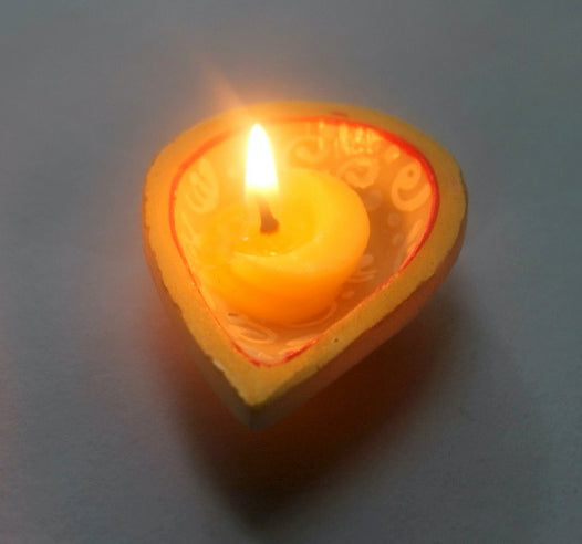 Cow Ghee Diya For Lamps (100 Pieces) - Pure & Original Ghee