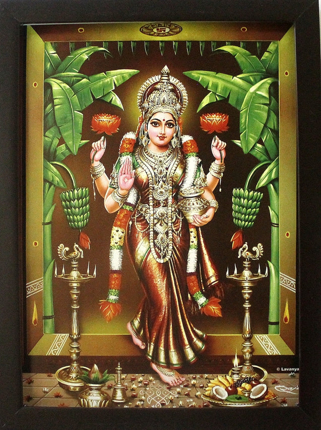 Sri Lakshmi (Red Color) - Frame