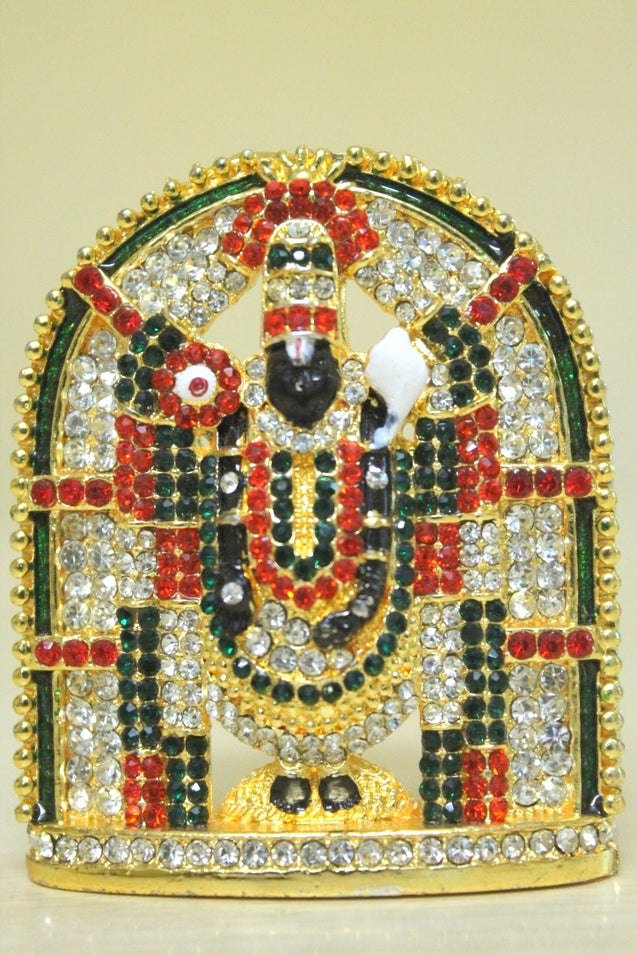 Lord Balaji (multi-coloured stones) (full size)