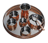 Copper Plate & Bowl Set