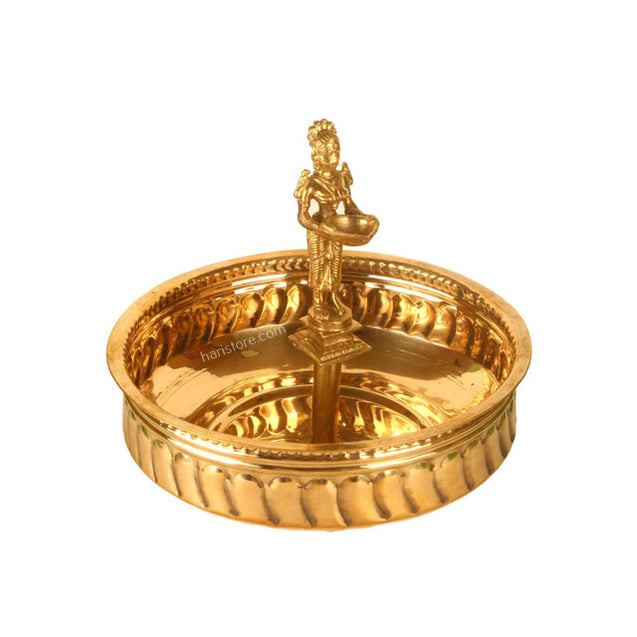 Brass Decorative Lamp In A Bowl
