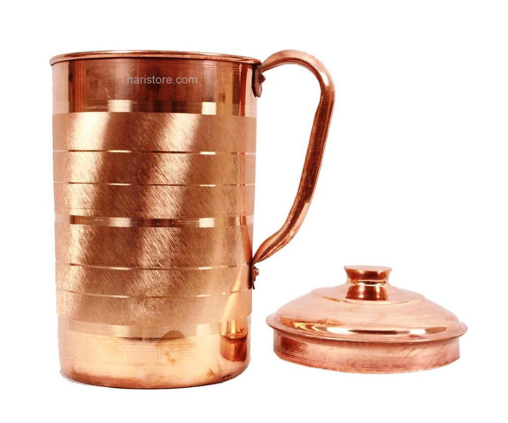 Copper Water Jug & Tumbler Set