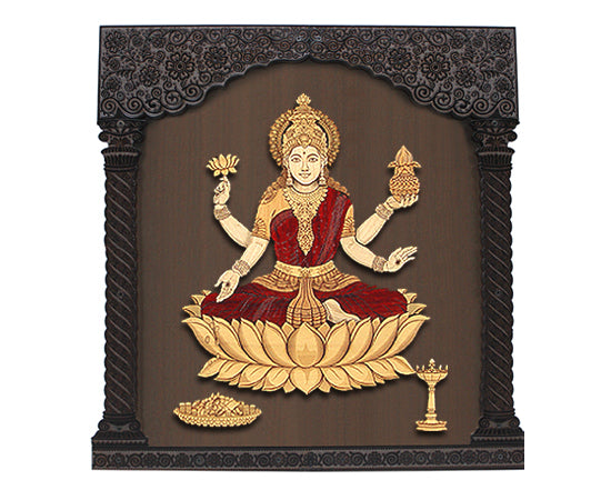Mahalakshmi 3D Frame With Glass