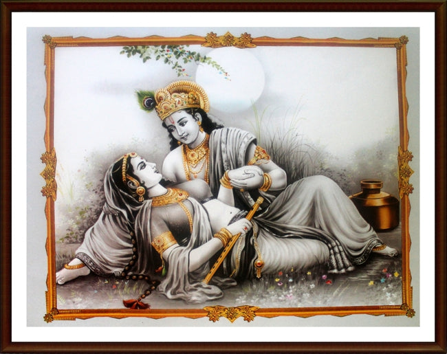 Sri Krishna with Radha - Frame