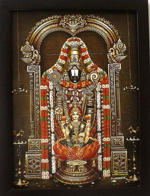 Lord Venkatachalapathy with Sri Lakshmi - Frame