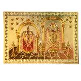 Gold foil magnet stand with Perumal and Padmavathi