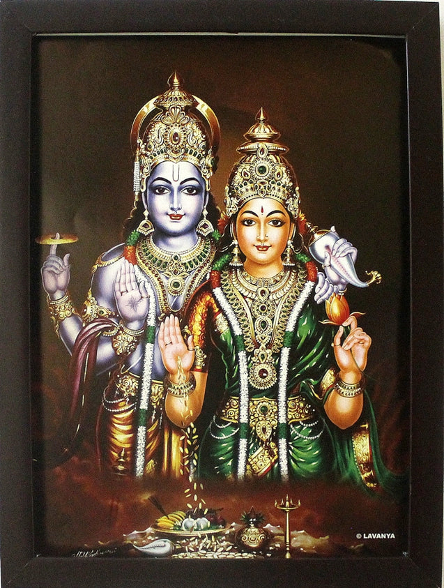 Sri Vishnu and Sri Lakshmi - Frame